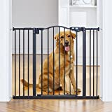 """InnoTruth Wide Baby Gate for Dogs, Auto Close Pet Gate 29"""" to 39.6"""" Width with 30"""" Height, Tall Safety Coverage for Stairs, H"""