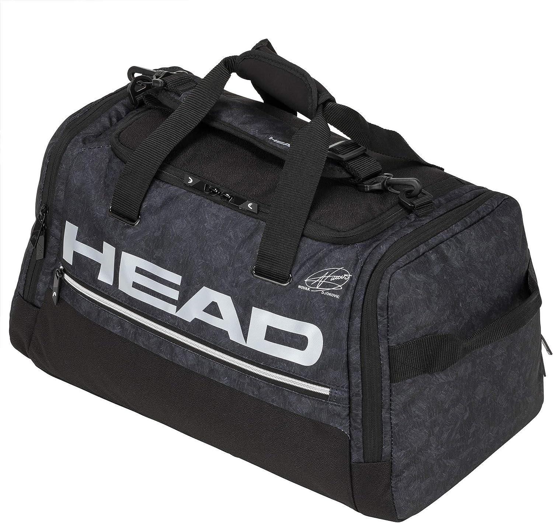 Head Duffle Bag Bolsa de Tenis, Unisex Adulto, Blanco/Negro, 55 x 28 x 28