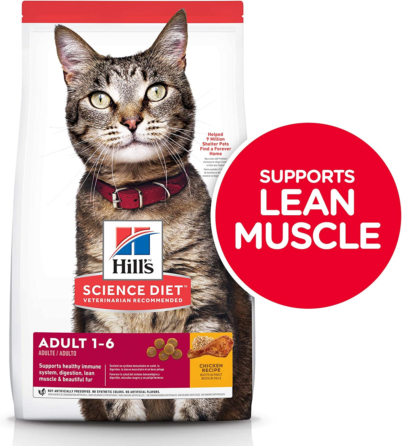 Hill's Science Diet Dry Cat Food, Adult, Chicken Recipe