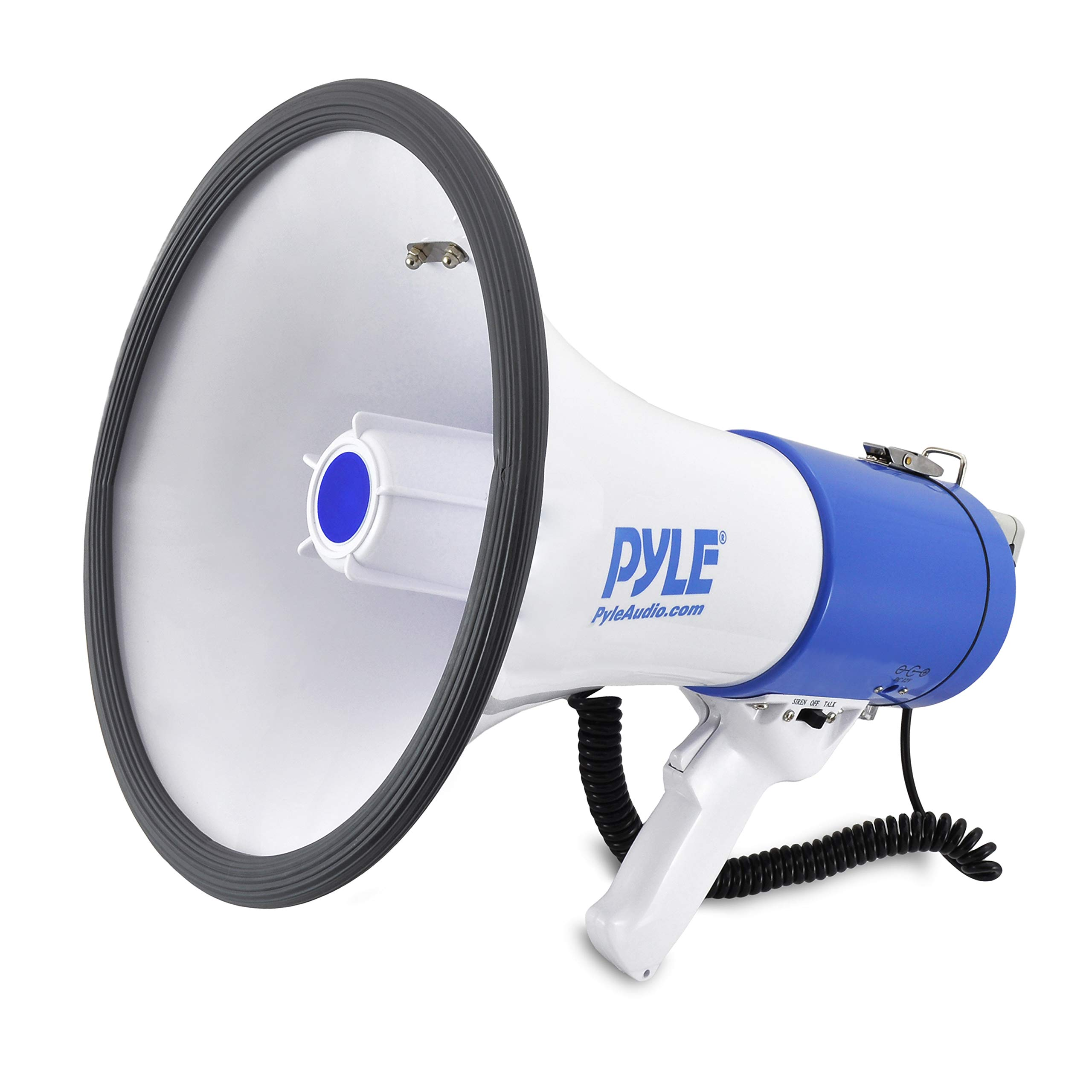 50 Watts Adjustable Vol Pyle Megaphone Speaker PA Bullhorn with Built-in Siren
