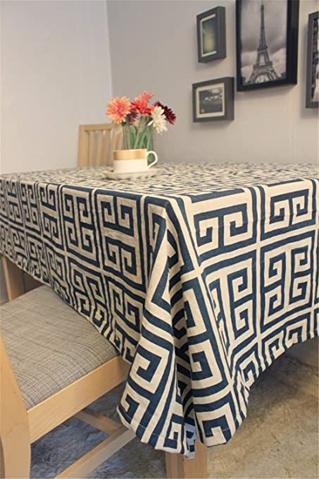 The Decor Is Modern And Trendy Tablecloths Cover Geometric Patterns Over  The Western Dining Tables Home