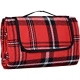 Azuma 130 x 150cm Folding Picnic Blanket Waterproof Backing Camping Outdoor Beach Festival Rug Mat