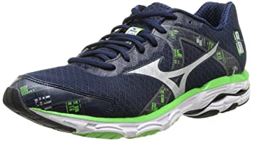 MIZUNO Wave Inspire 10 Men\u0027s Running Shoes, Blue/Green, ...