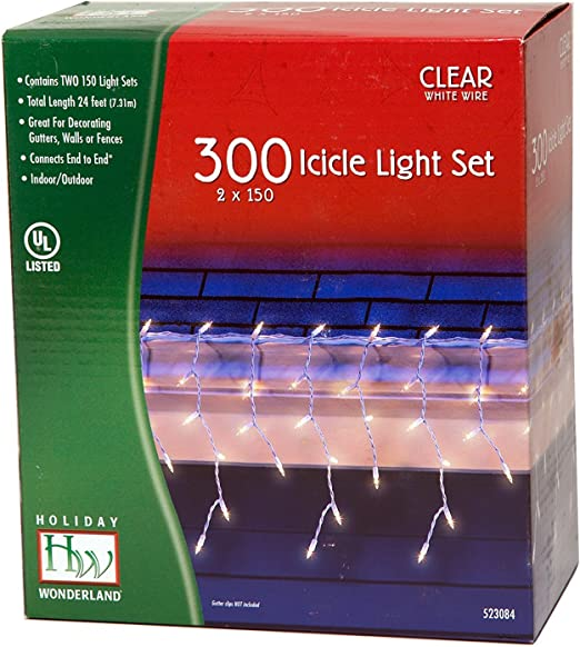 Wondershop Other brands 300ct Incandescent Icicle Lights Multicolored