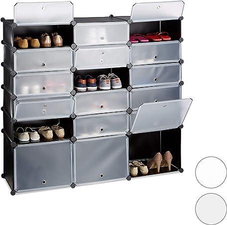 Meuble chaussures plastique étagère 9 cubes casiers système