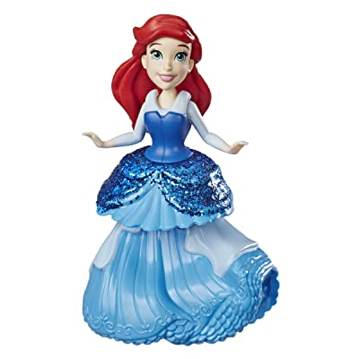 Disney Princess Ariel Doll with Royal Clips Fashion, One-Clip Skirt: Toys & Games