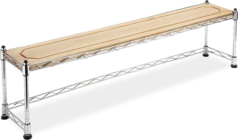 Whitmor Supreme Wood & Chrome Sink Shelf: Home & Kitchen