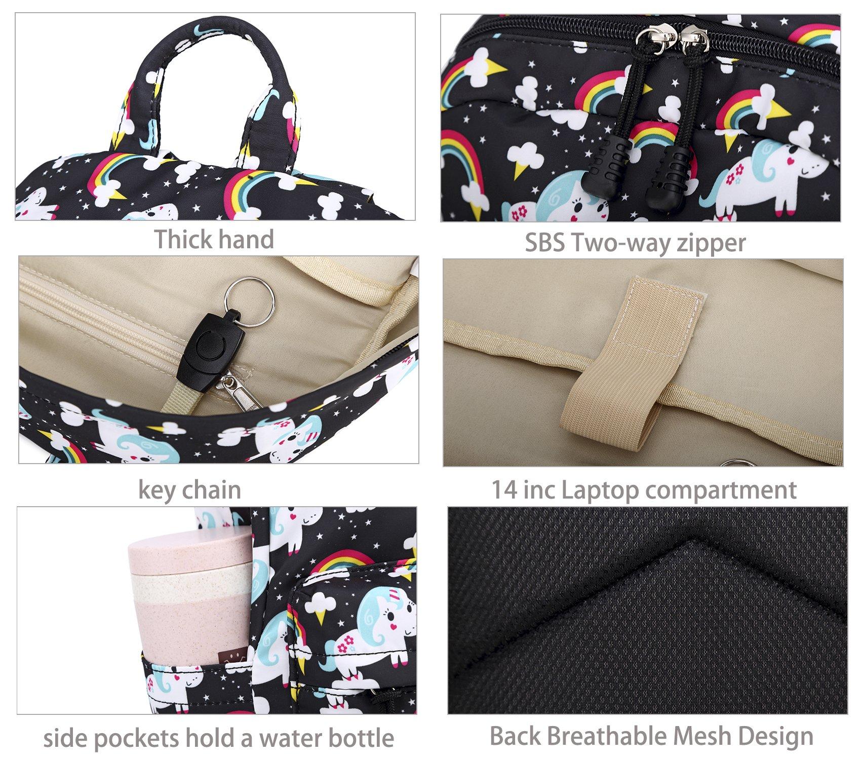 Abshoo Cute Lightweight Unicorn Backpacks Girls School Bags Kids Bookbags 8