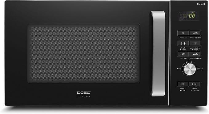 Opinión sobre Caso BMG30 - Microondas con grill (900 W, grill 1100 W, 6 niveles, 9 programas automáticos con programa de descongelación, 95 min) Temporizador, color negro, con teclas extra grandes