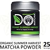 DoMatcha - Organic Summer Harvest Matcha Powder, Natural Source of Antioxidants, Caffeine, and L-Theanine, Promotes Focus and Relaxation, 25 Servings (1 oz)