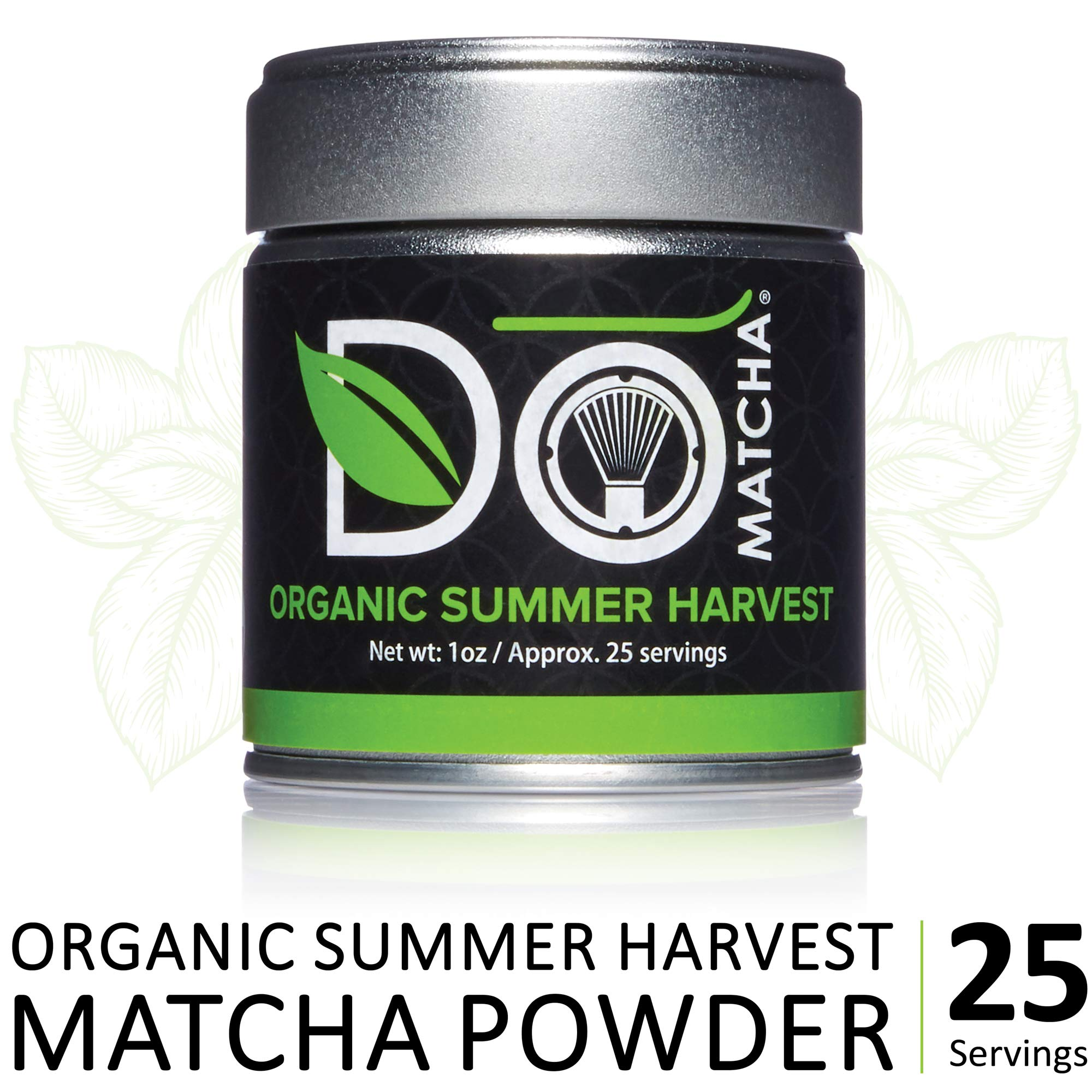 DoMatcha - Organic Summer Harvest Green Tea Matcha Powder, Natural Source of Antioxidants, Caffeine, and L-Theanine, Promotes Focus and Relaxation, 25 Servings (1 oz) by DoMatcha