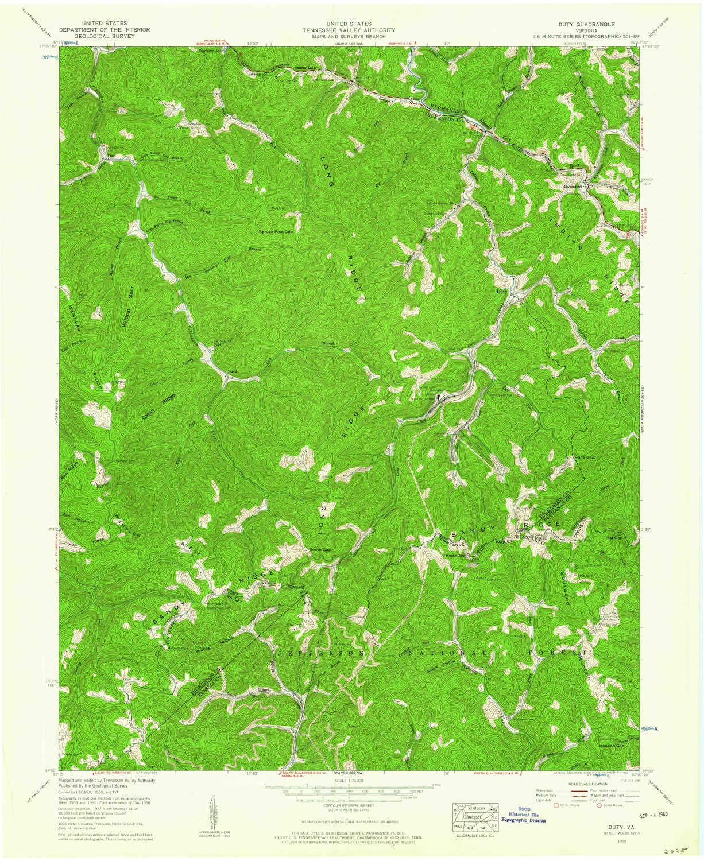 Amazon Com Yellowmaps Duty Va Topo Map 1 24000 Scale 7 5 X 7 5