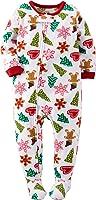 Carter's Little Girls' 1-Piece Fleece Christmas Pajamas Footie