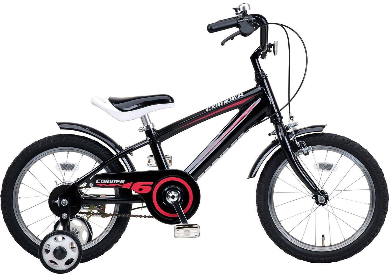 キャプテンスタッグ(CAPTAIN STAG) コライダー 16インチ 子ども用自転車 アルミフレーム KIDS16型 [ 補助輪 / ベル / 前後泥よけ ]標準装備 B00KU9FXD0 ブラック ブラック