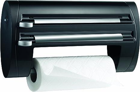 Emsa 509247 - Expendedor triple de rollos para cocina, papel de cocina, papel de