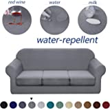 Granbest 4 Piece Premium Water-Repellent Sofa Slipcover for 3 Cushion Couch High Stretch Sofa Cover for 3 seat Sofa…