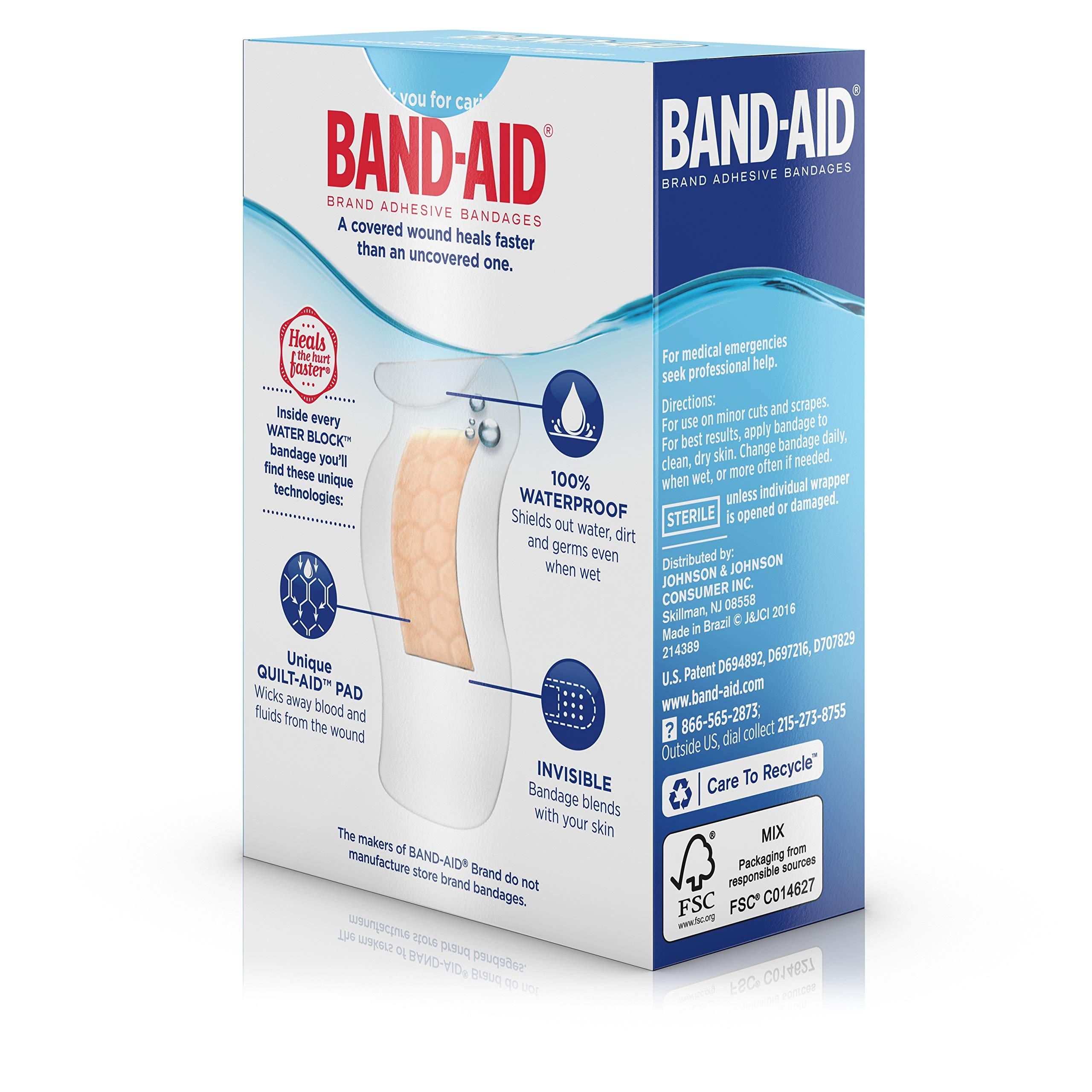 Band-Aid Brand Water Block Plus Waterproof Clear Adhesive Bandages for Minor Cuts and Scrapes, 30 ct (6 Pack) by Band-Aid (Image #10)