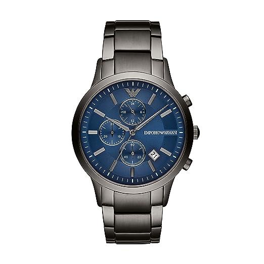 Emporio Armani Reloj Cronógrafo para Hombre de Cuarzo con Correa en Acero Inoxidable AR11215: Amazon.es: Relojes