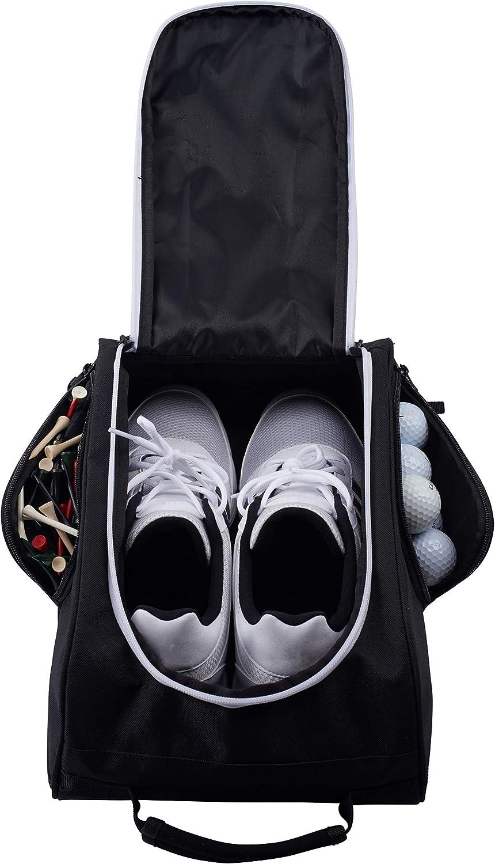 Golf Shoe Bag >> Athletico Golf Shoe Bag Zippered Shoe Carrier Bags With Ventilation Outside Pocket For Socks Tees Etc