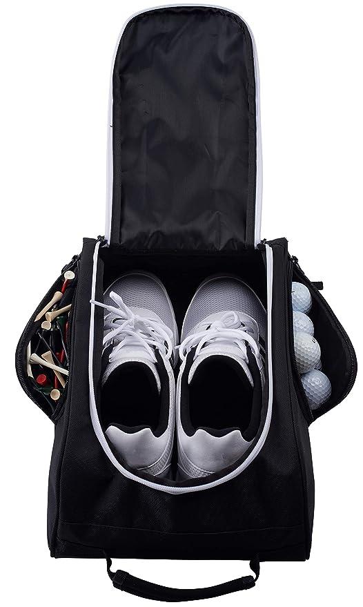 61f5c1000ef95 Athletico Golf Shoe Bag - Zippered Shoe Carrier Bags with Ventilation &  Outside Pocket for Socks