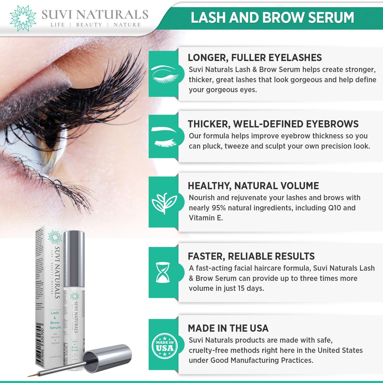 Amazon Suvi Naturals Lash Eyebrow Serum Achieve Luscious