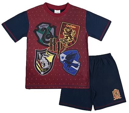 Harry Potter Boys Short Pyjamas Hogwarts Pjs  Amazon.co.uk  Clothing baf162d32