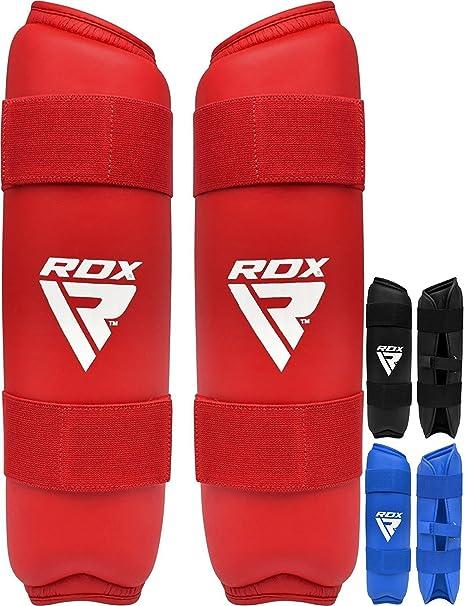 RDX Protector MMA Shin Guards Pads Instep Leather Kick TKD Muay Thai