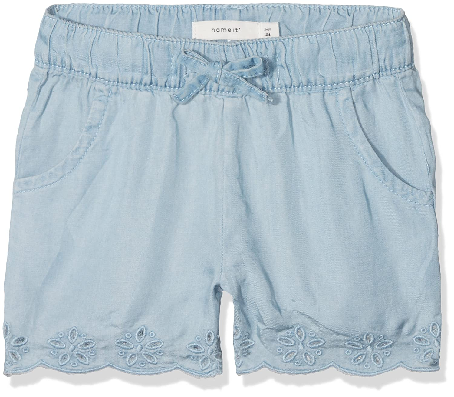 NAME IT Pantalones Cortos para Bebés Azul Light Blue Denim 104 13153310
