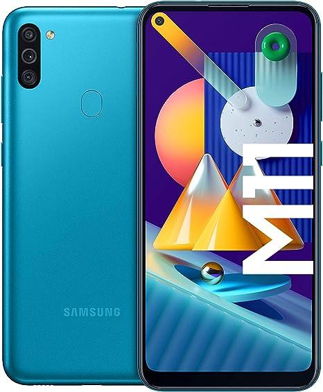Samsung Galaxy M11 Android Smartphone Ohne Vertrag Triple Kamera 6 4 Zoll Hd Infinity O Display Großer 5 000 Mah Akku 32 Gb 3gb Handy In Blau Deutsche Version Exklusiv Bei Amazon Elektronik