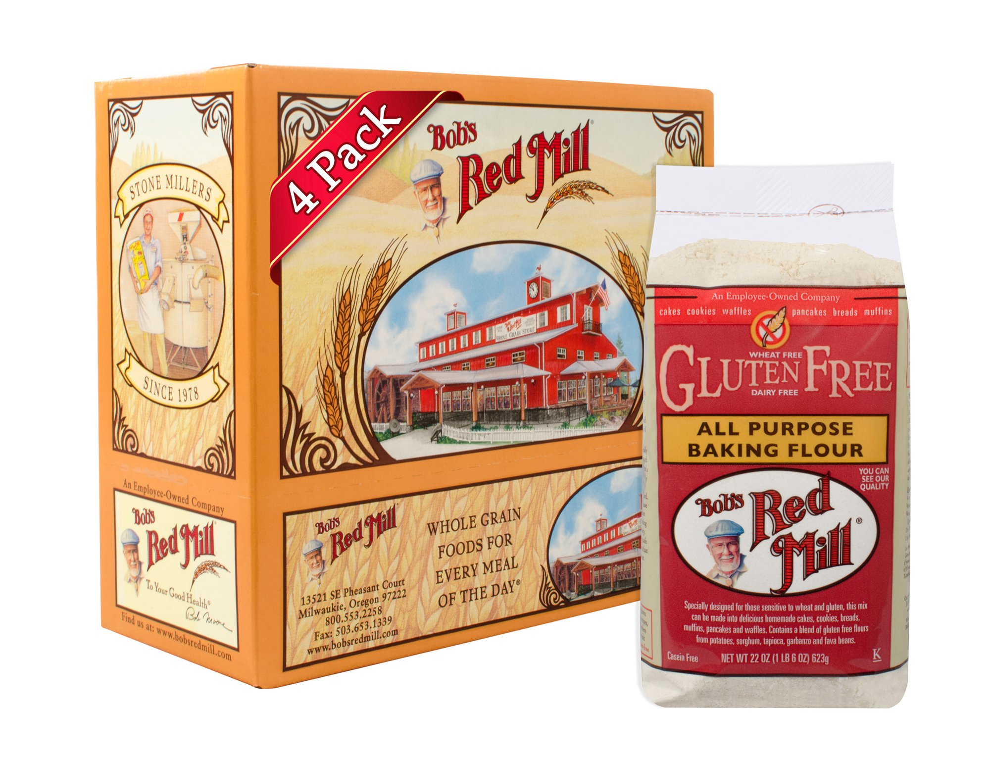 Bob's Red Mill Gluten Free All Purpose Baking Flour, 22 Oz (4 Pack) by Bob's Red Mill