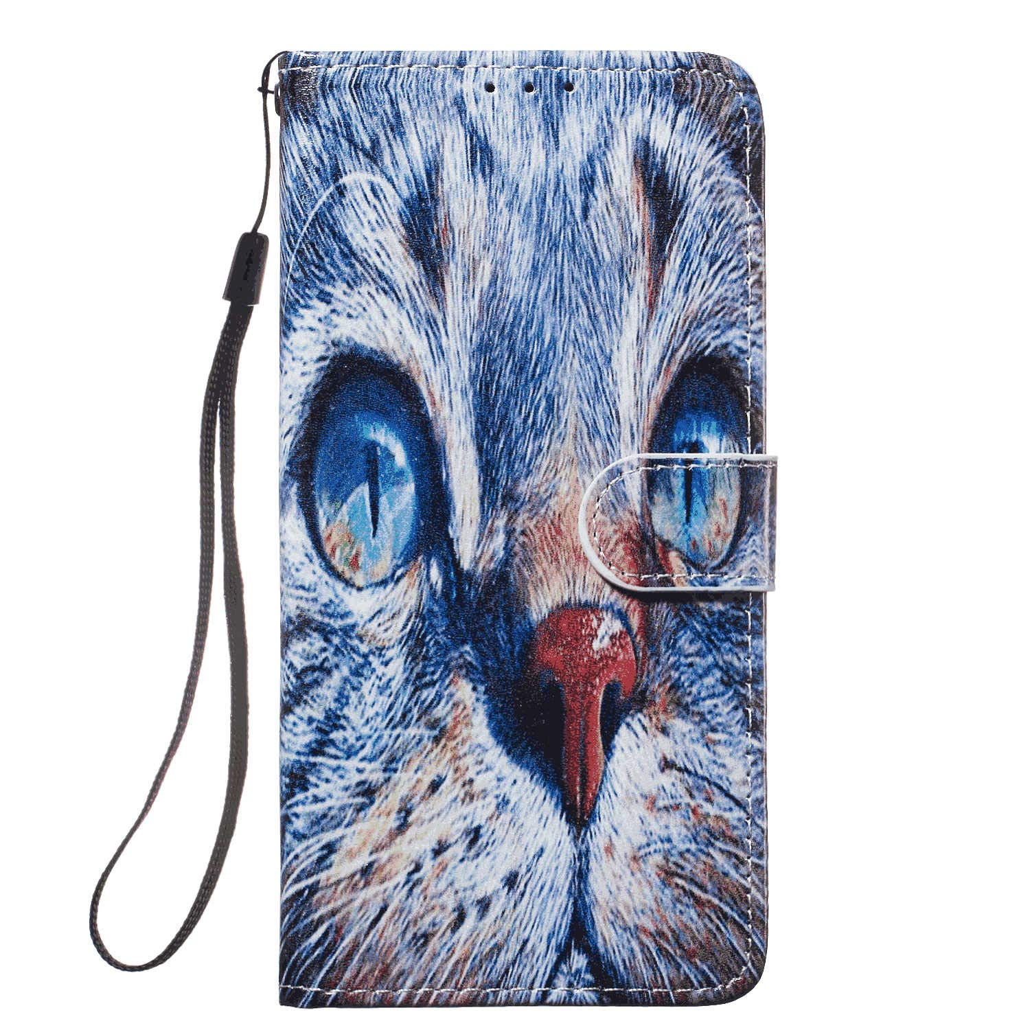 Cover for Samsung Galaxy A60 Leather Extra-Shockproof Business Mobile Phone case Card Holders Kickstand with Free Waterproof-Bag Delicate Samsung Galaxy A60 Flip Case