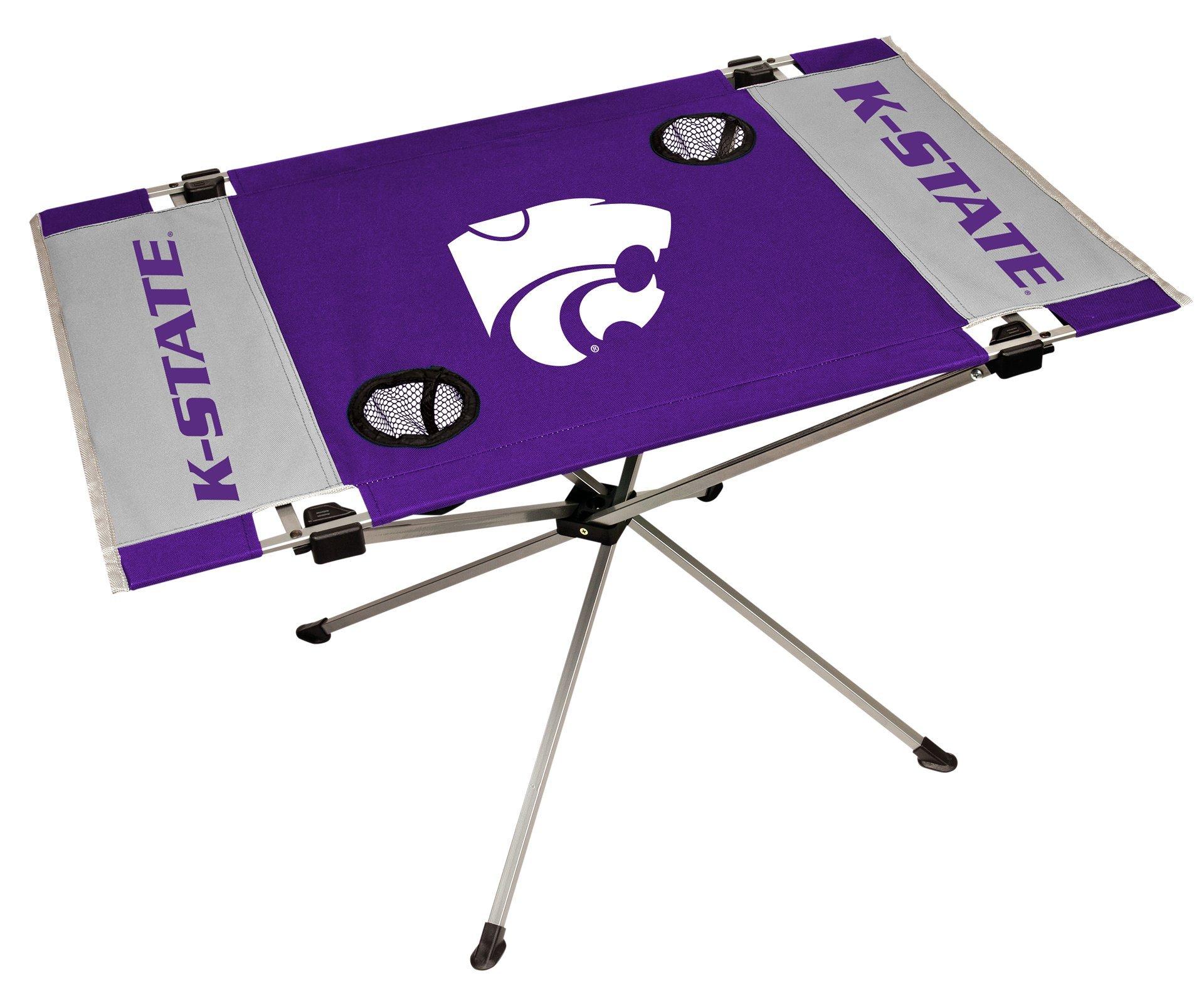 Rawlings NCAA Kansas State Wildcats NCAA Endzone Tailgate Table, Purple, 31.5'' Large x 20.7'' W x 19'' H by Rawlings