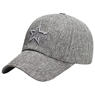 Panegy Stylish Cotton Outdoor Cap Star Embroidery Trucker Hat Hiphop Hat Baseball Cap