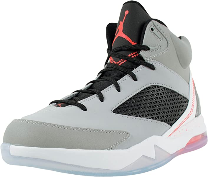 designer fashion 95189 b011f Jordan Mens Nike Air Jordan Flight Remix Basketball Shoes-Wolf  Grey Infrared 23-
