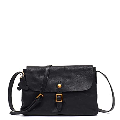 STEPHIECATH Genuine Cow Leather Women s Crossbody Bags Small Flap Button  Retro Casual Style Wax Italian Leather dc8124d8a699d