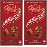 Lindt Lindor Irresistibly Smooth Milk Chocolate, 100g (Pack of 2)