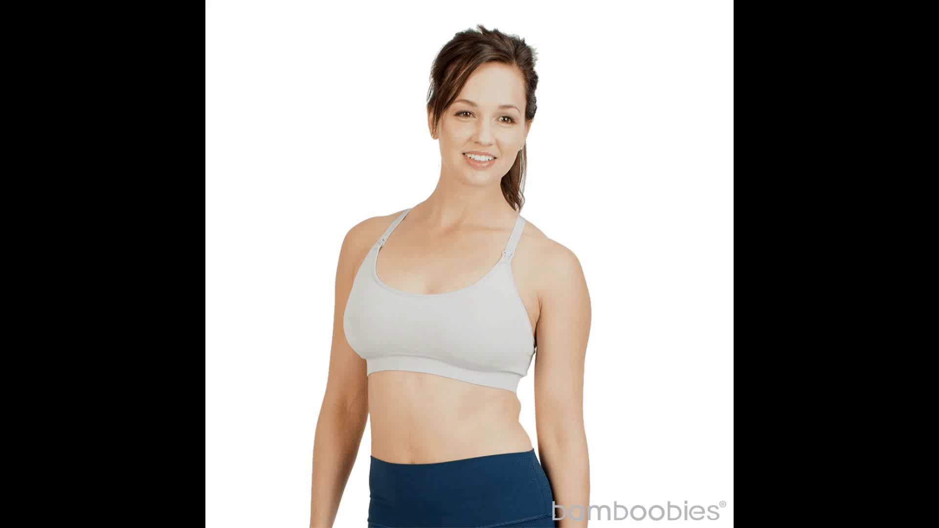 a53ebb5983277 bamboobies Maternity Seamless Yoga Nursing Bra for Breastfeeding ...