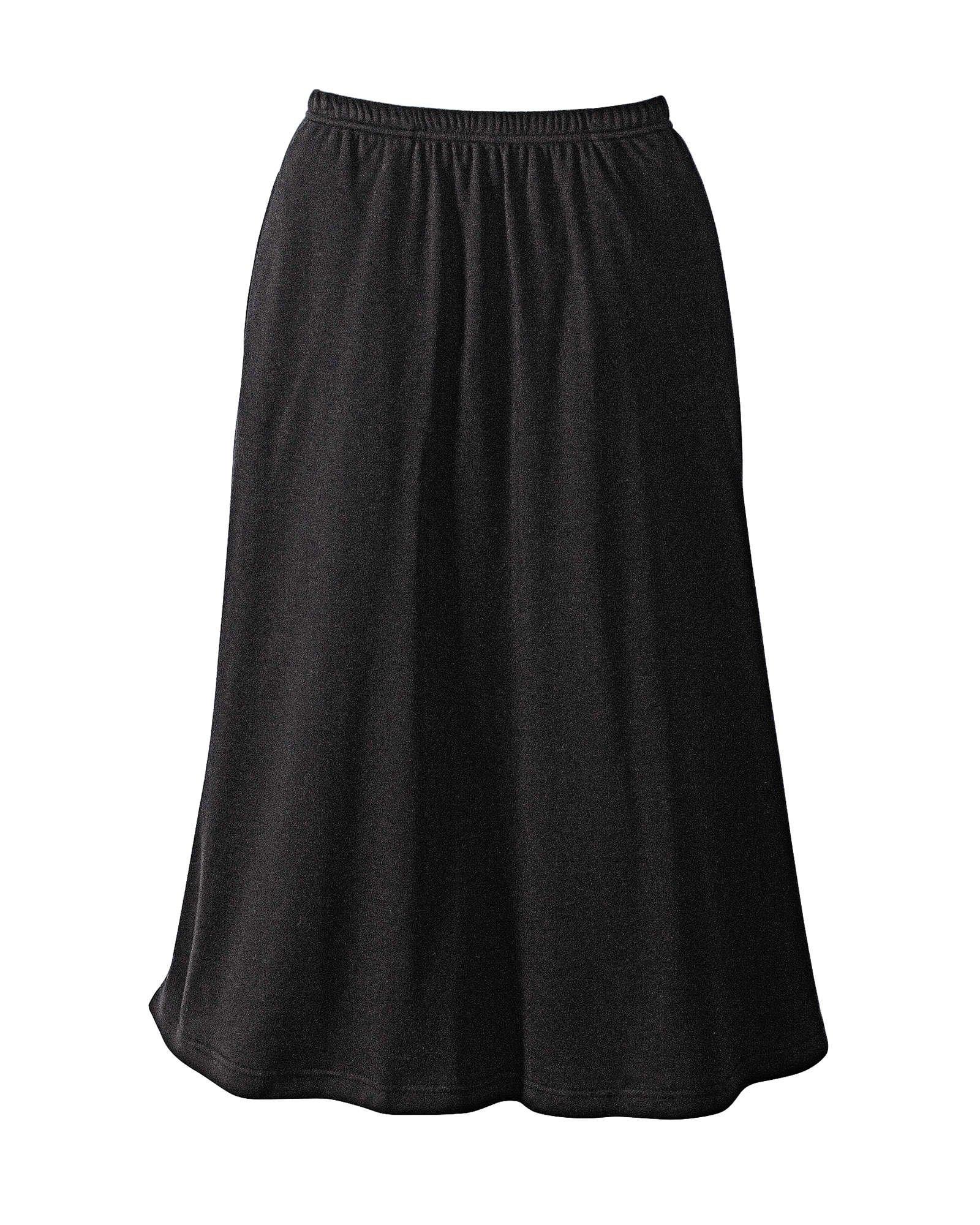 UltraSofts Skirt, Black, Petite XL