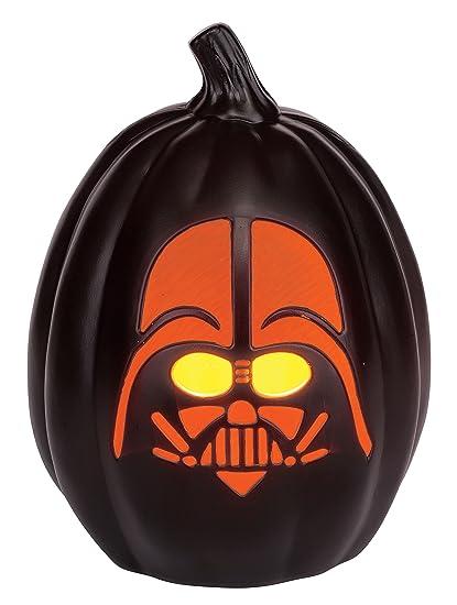amazon com star wars darth vader light up pumpkin toys \u0026 gamesPics Of Darth Vader Pumpkin #1