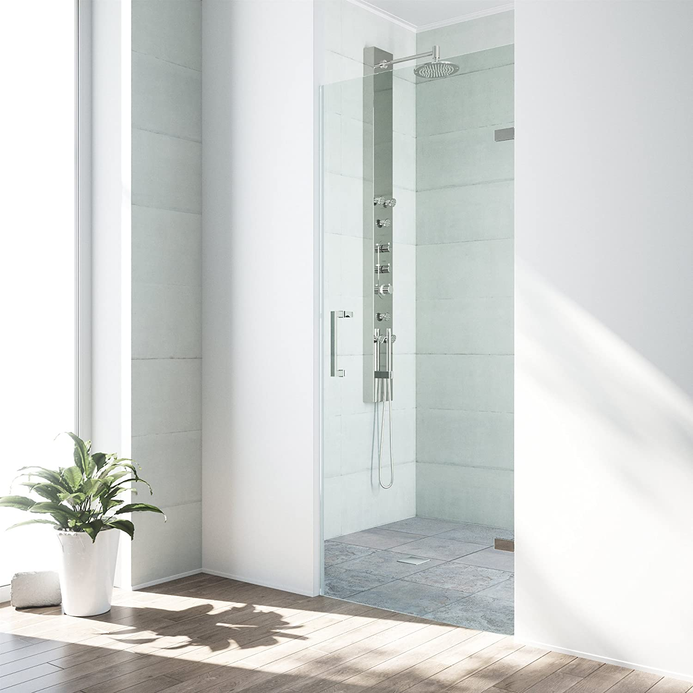 Vigo Soho 28 To 285 In Adjustable Frameless Shower Door With 3125