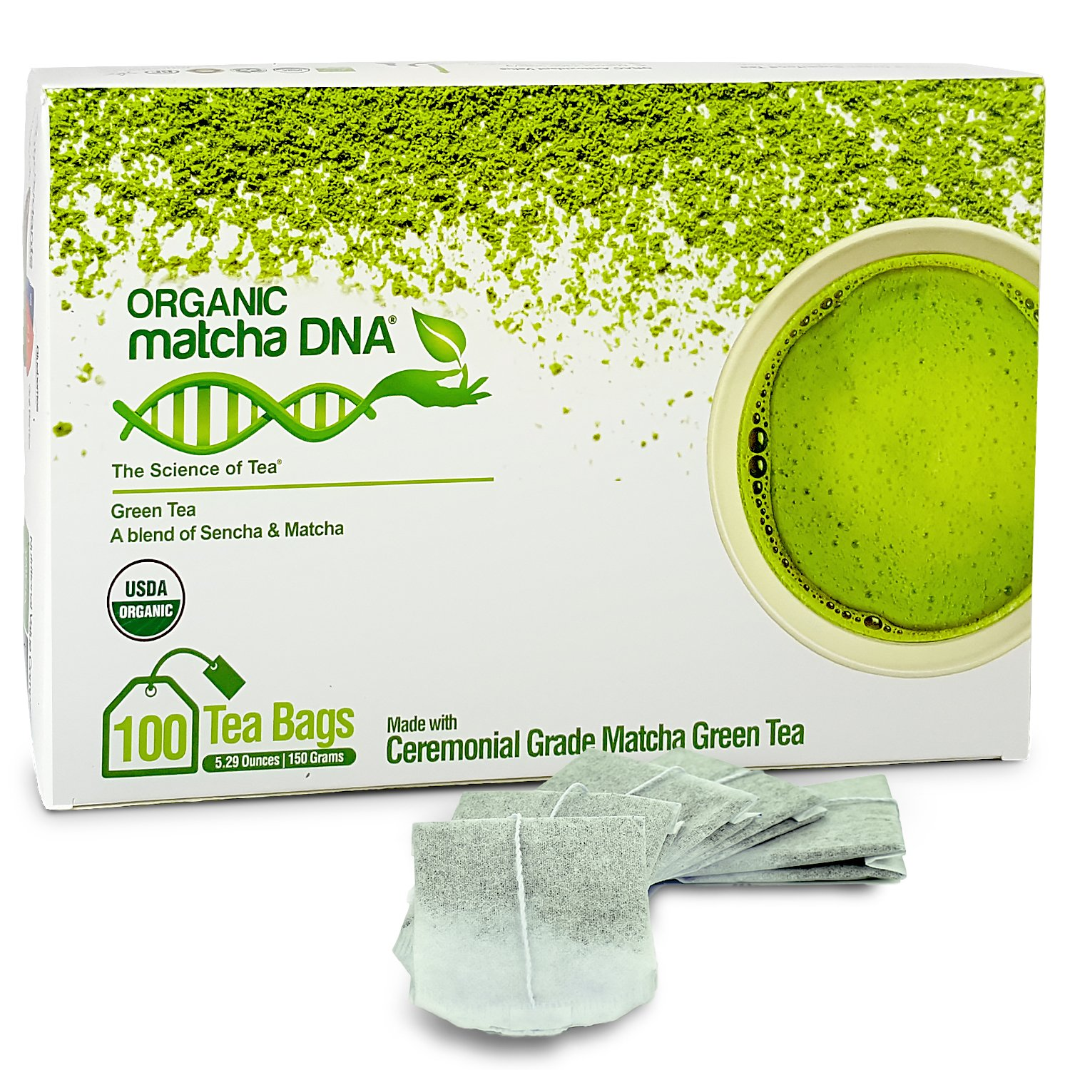 Matcha Teabags MatchaDNA Certified Organic Matcha Green Tea - 100 Tea Bags Accelerated Intelligence Inc. SYNCHKG111160