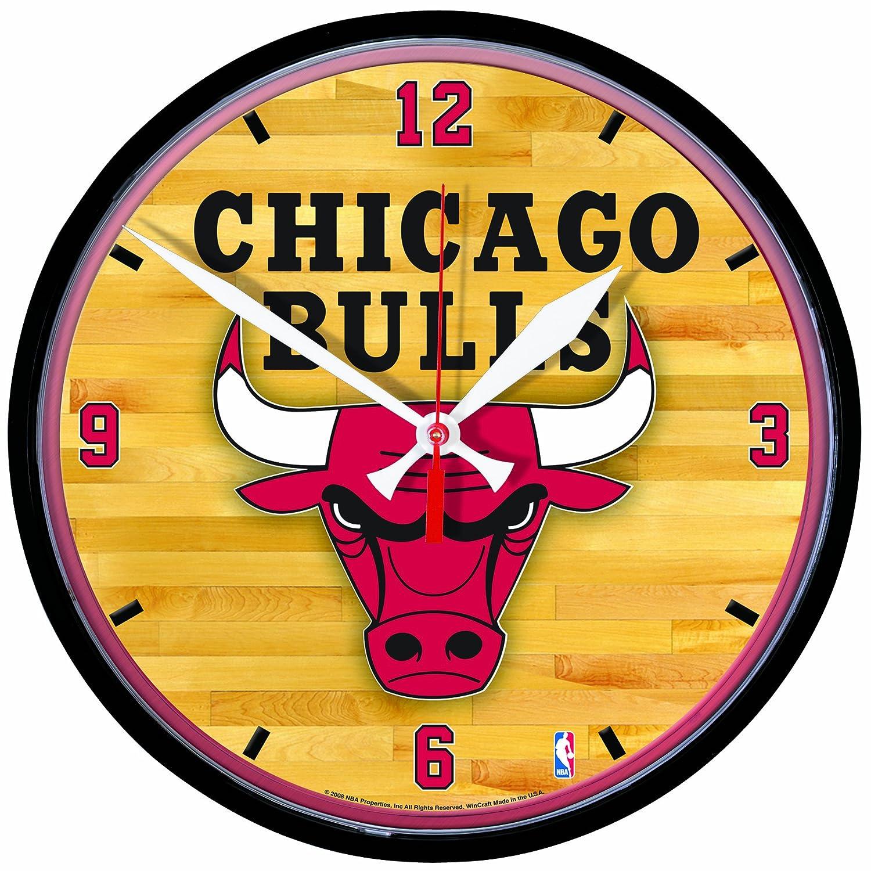 Amazon.com : NBA Chicago Bulls Round Clock : Sports Fan Wall Clocks ...
