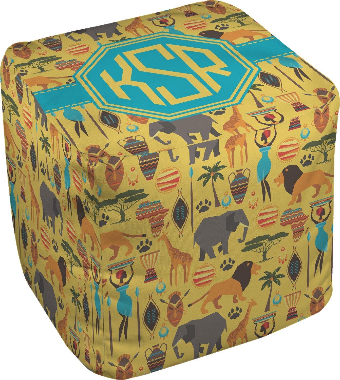 RNK Shops African Safari Cube Pouf Ottoman - 13'' (Personalized)