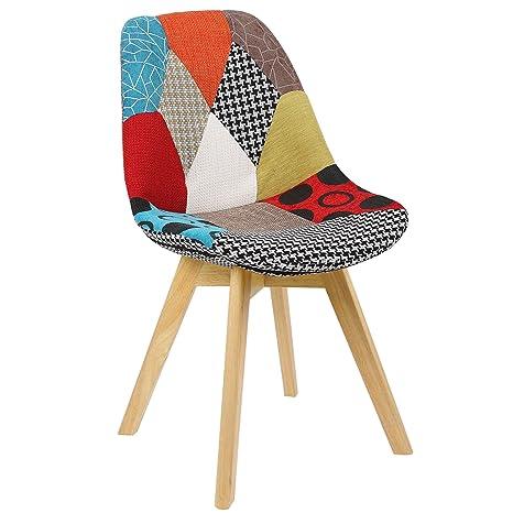 ts-ideen Sedia da Tavolo stile retró anni 50 in legno di ...