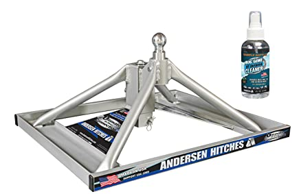 Andersen Hitches 3220 | Aluminum Ultimate 5th Wheel Connection 2 | Gooseneck Version | Weighs Only 35 lbs | ONE PERSON Install or Removal in Less Than 5 Minutes! | SMOOTH RIDE - MORE SWIVEL