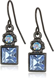 product image for 1928 Jewelry Colored Square Drop Earrings