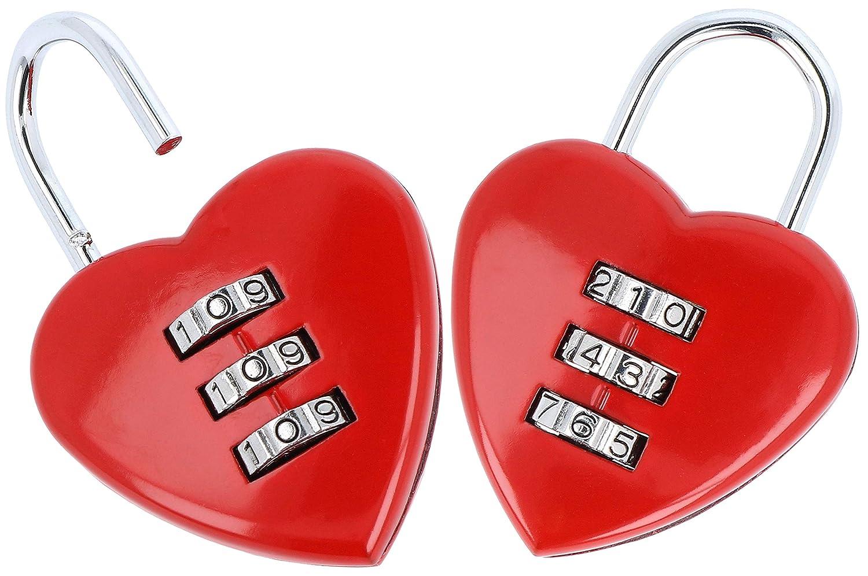 candados en forma de corazon con codigo