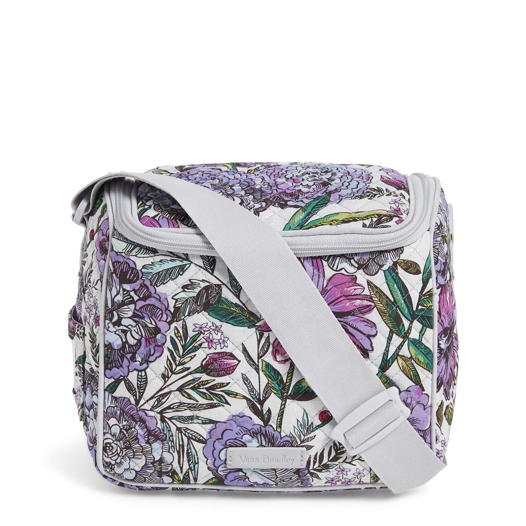 Vera Bradley Iconic Stay Cooler, Signature Cotton, Lavender Meadow