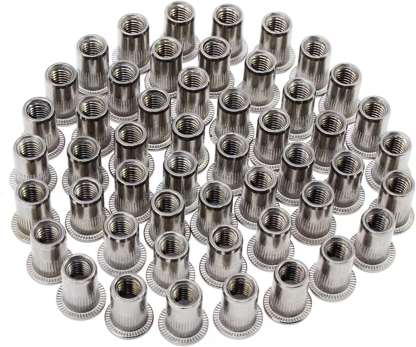 mit sortierten 100 Nieten 3,2 mm 4,8 mm 2,4 mm 4 Kopfd/üse strapazierf/ähig Nietwerkzeug Hseamall Nietpistolen-Set 4 mm