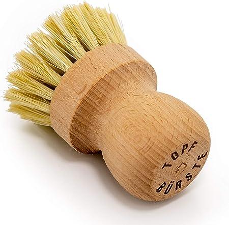 Seasons Shop Brosse /à Vaisselle Brosse /à Pot Brosse pour la Cuisine avec Un Manche en Bambou Naturel pour la Vaisselle Pot pour Le Nettoyage des casseroles